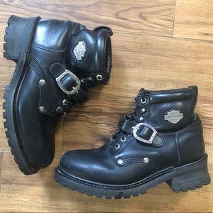 Harley-Davidson Faded Glory Black Moto Boots